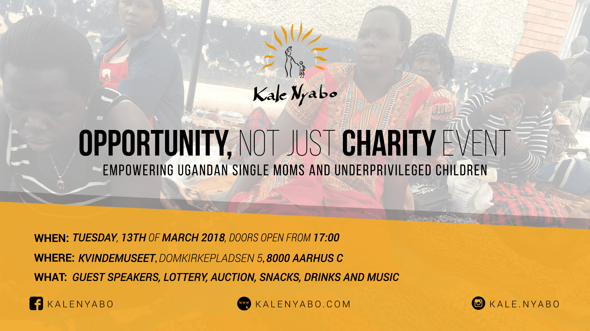 Opportunity, Not Just Charity Fundraiser